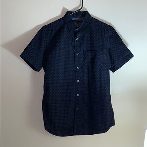 Banana Republic Short Sleeve Button Up Navy Blue S